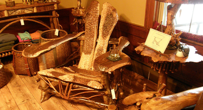 Offering Traditional Adirondack Style Rustic Furniture By Steve Bowers And  Other Skilled Artisans Of The Region