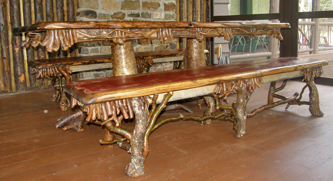 Nice Offering Traditional Adirondack Style Rustic Furniture By Steve Bowers And  Other Skilled Artisans Of The Region